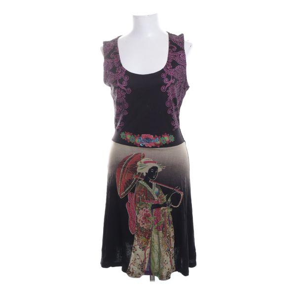 Desigual, Kleid, Größe: XL, Schwarz/Mehrfarbig/Pink ...