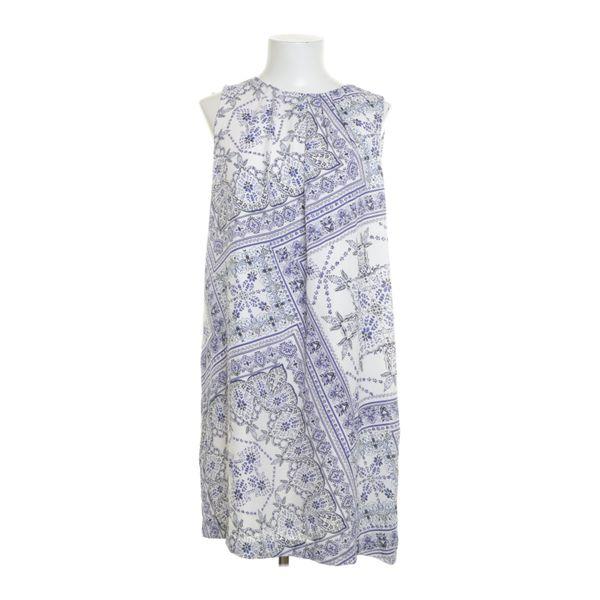 H&M Premium Quality, Kleid, Größe: 44, Weiß/Blau ...