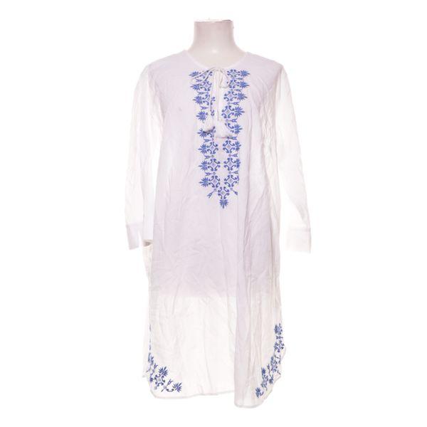 H&M, Kleid, Größe: 46, Weiß/Blau, Baumwolle/Polyester | eBay